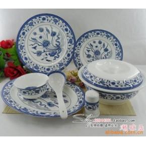 景德镇 56头优质骨瓷餐具釉中彩 一枝莲
