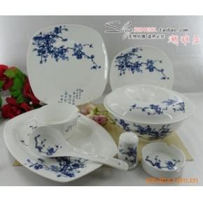 景德镇 56头优质骨瓷餐具釉中彩  腊梅