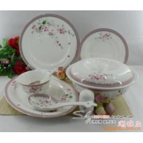 景德镇 56头优质陶瓷餐具 红梅花开