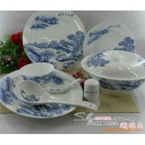 景德镇 56头优质骨瓷餐具釉中彩  瑞雪丰年