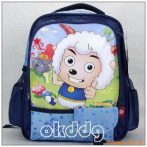 批发喜洋洋幼儿园中书包 喜羊羊书包2120蓝色