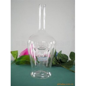 青岛优质玻璃手工工艺酒瓶HC101-750-030