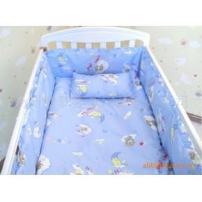 全棉婴儿床上用品 母婴用品 儿童床品套件 被子 床围 枕头 床单