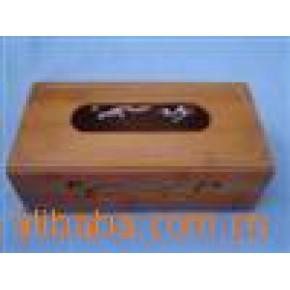 竹纸巾盒,竹盒出口竹制品