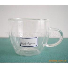 青岛华彩手工双层玻璃茶杯系列1