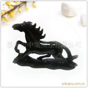各种天然半宝石 动物雕刻工艺品