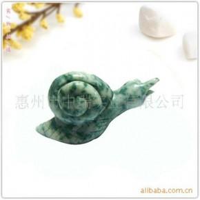 【专业生产】各类天然半宝石动物雕刻—蜗牛群组