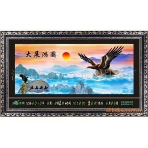 装饰画、数码万年历流水画,山水画,横动高清双画