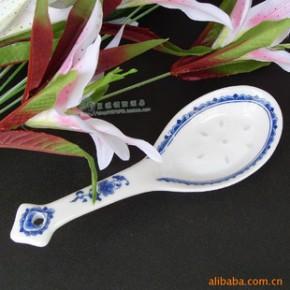 景德镇 陶瓷 瓷器  釉下彩 青花玲珑汤 大 勺套装 环保 中式