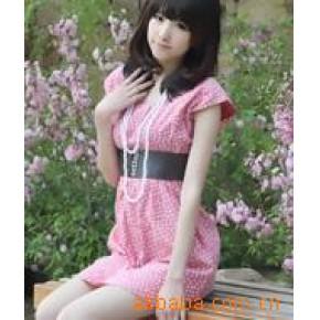 原单瑞丽5-803 红心型束腰韩版薄牛仔连衣裙