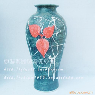 景德镇树叶创意雕刻花瓶11