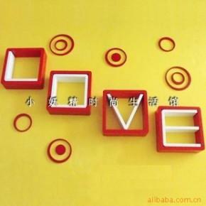 LOVE壁挂 格子架 CD架 隔板 多乐家饰