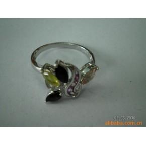 碧玺戒指 戒指、指环 925银、水晶