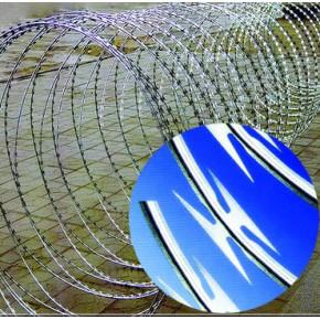上海蛇腹式刀片刺绳 螺旋式刀片刺绳,直线型刀片刺绳,平板式刀