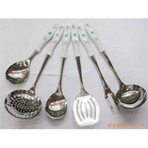 【】供应韩式花柄厨具/不锈钢厨具/塑料柄厨具、