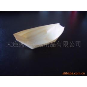 一次性餐盘(小木船、松木皮制)