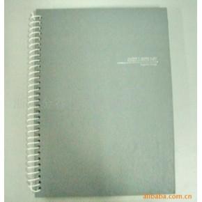 封面裱胶化纸的双线圈的笔记本
