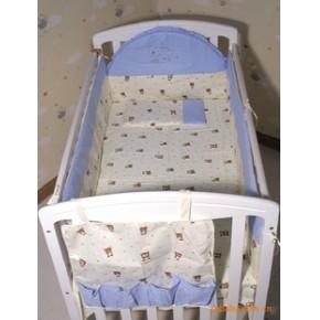 全棉婴幼儿床上用品 婴儿床品七件套 母婴用品批发