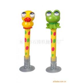 青蛙转眼笔.摇头笔.吸盘笔,搪胶PVC圆珠笔
