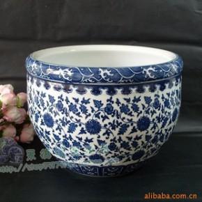 景德镇瓷器 500件鱼缸陶瓷《大清乾隆年制》水族箱
