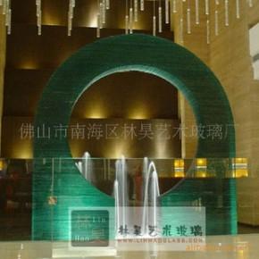 钳口造型玻璃,酒店装饰,玻璃工程