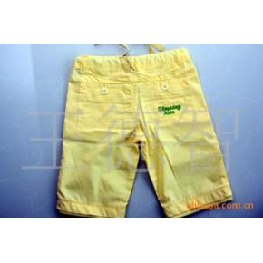 特色 黄色短裤 童装批发