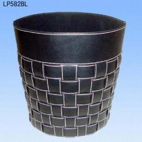 【图】皮革垃圾桶/黑色皮具垃圾桶定制/广州垃圾桶厂家