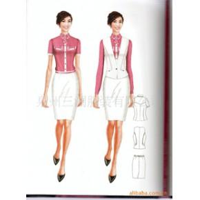 优质制服 时尚俏丽售楼员工职业装