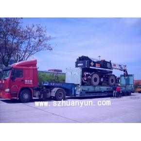 超高开顶柜拖车运输 超高平板柜拖车运输