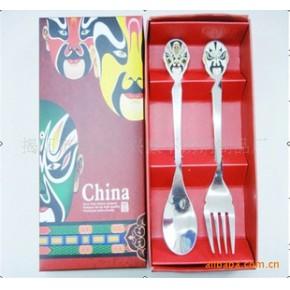 脸谱餐具,餐具套装,礼品餐具,不锈钢勺叉套装