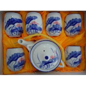 提梁茶具-《青花山水》  茶具   礼品瓷