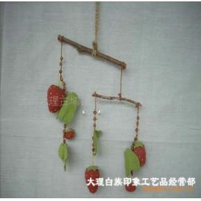 纯手工制作草莓风铃 铃铛/风铃