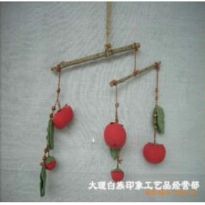 纯手工制作柿子风铃 铃铛/风铃