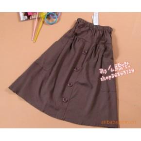 亚麻半身裙长裙A字裙 休闲舒适款·有口袋
