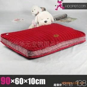批发供应宠物用品 紫红色踩线格帆布可拆洗宠物垫