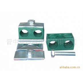 双联塑料管夹 双联塑料管夹