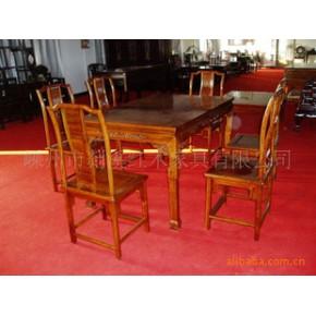花梨长餐桌 桌子 实木 山水花卉