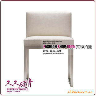 北京批发供应不锈钢架布艺椅图片