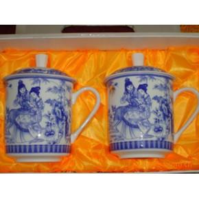 釉中骨质瓷青花茶杯/对杯