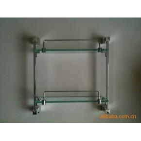 淋浴房五金配件双层玻璃置物架
