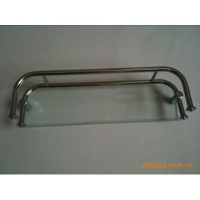淋浴房五金配件 单层玻璃置物架