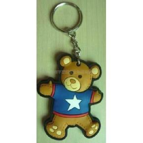 3Dpvc软胶钥匙扣 卡通时尚钥匙扣 钥匙挂饰