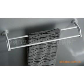 太空铝实心杆浴巾架,实心杆毛巾架 双杆