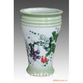 景德镇手绘陶瓷花盆花卉盆花钵盆栽钵