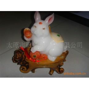 【山西总经销】前途无量兔玉器摆件招财工艺品商务送礼