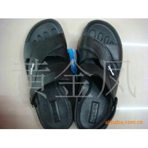 PVC男式凉鞋/家居凉拖鞋/黑色两用穿凉拖
