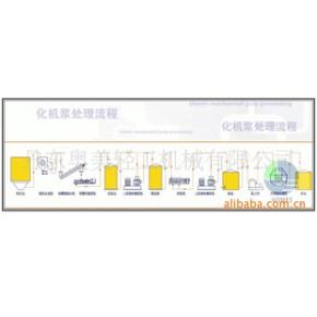 化机浆处理流程  [ 适用于造纸制浆行业 ]