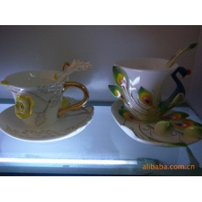 法兰瓷咖啡具 景德镇法兰瓷