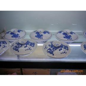 青花玲珑陶瓷合器 陶瓷 几何形