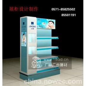 杭州商场木展柜制作生产 杭州玻璃烤漆展柜 铝合金出租租赁设计